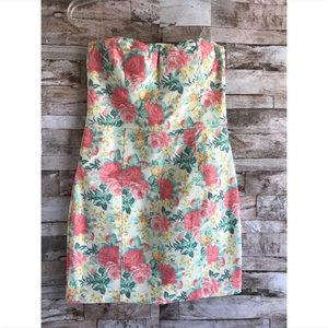 As U Wish Denim Floral Mini Dress Sz 7